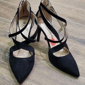 New Unisa black strap heels size 7